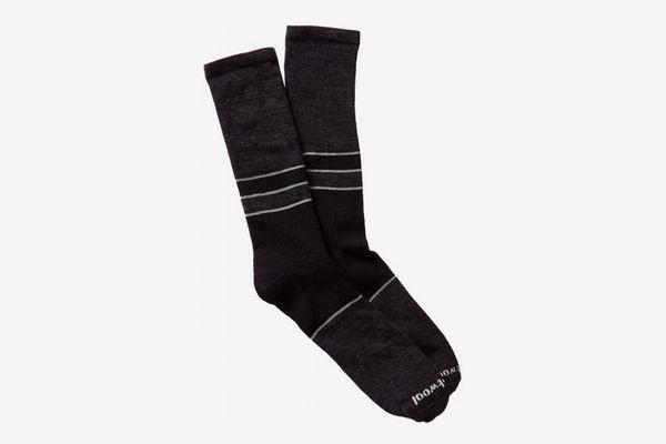 Mens Colorblock Denim Crew Socks, Black