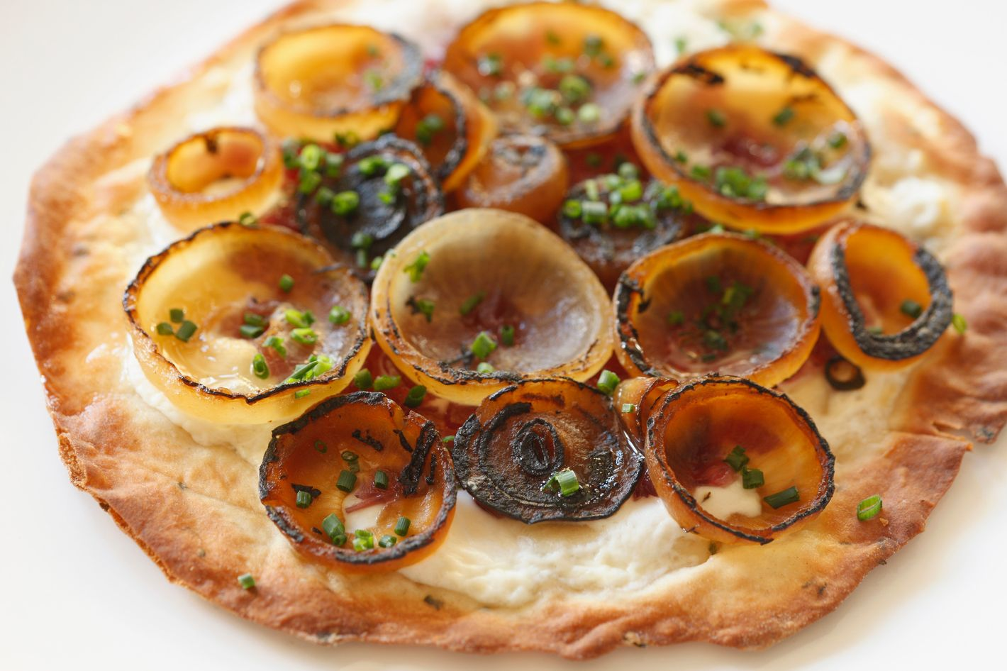 Onion tart with braised cipollini, mountain cheese, and onion gravy.