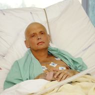Alexander Litvinenko is pictured at the Intensive Care Unit of University College Hospital on November 20, 2006 in London, England.