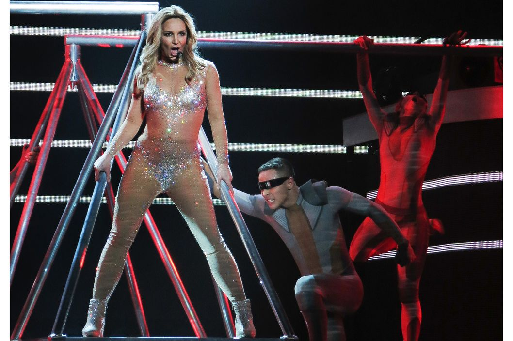 "Britney Spears shows off an incredible stage show at the Britney Spears ""Piece of Me"" residency concert at Planet Hollywood in Las Vegas, NV."
