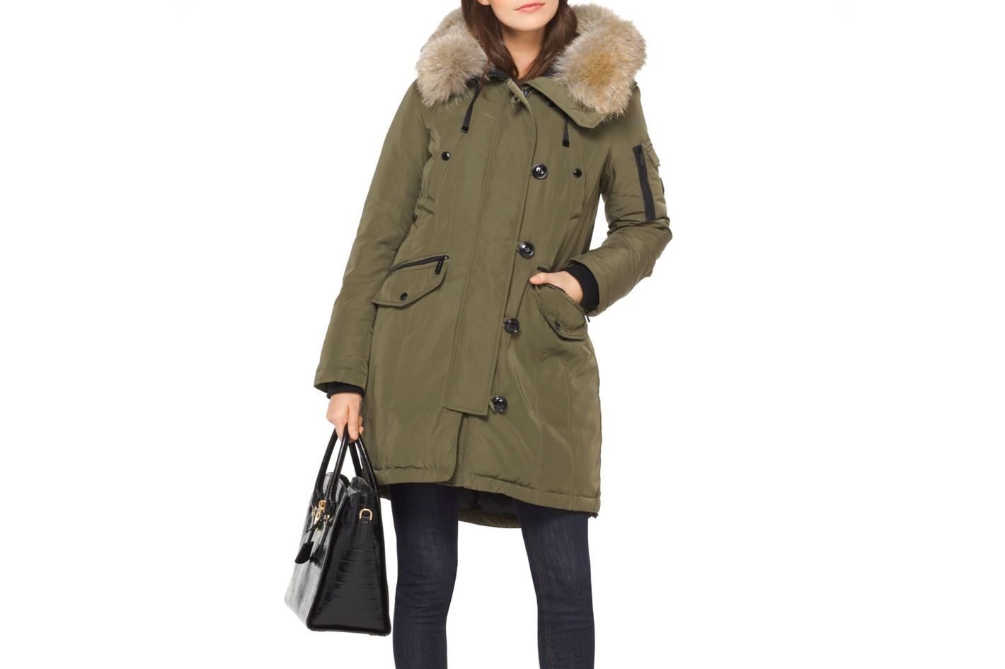 Michael by Michael Kors Fur-Trimmed Down Anorak