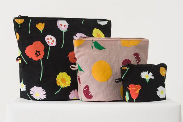Baggu Go Pouch Set - Flora