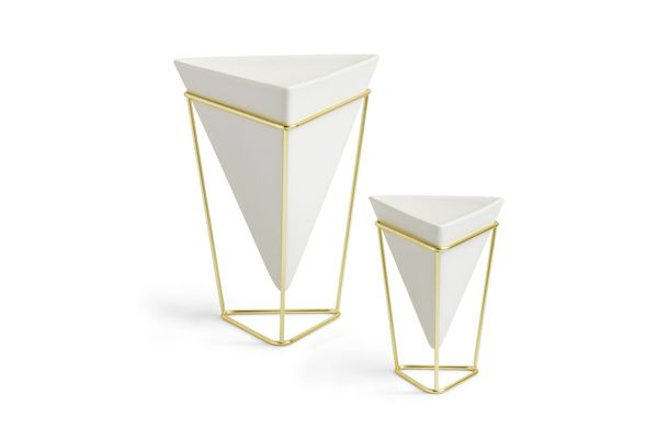 Umbra Trigg Desktop Planter Vase & Geometric Container