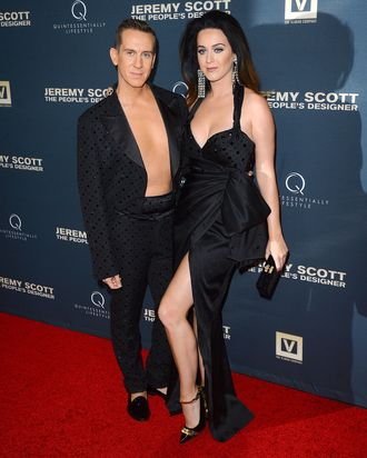 Jeremy Scott and Katy Perry.