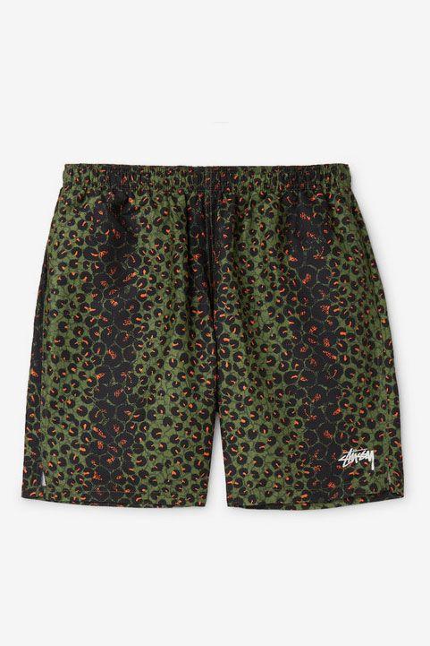 Stüssy Mid-Length Leopard-Print Swim Shorts