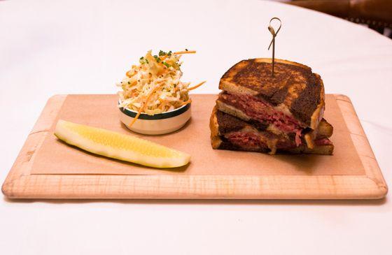 Ralph's corned-beef sandwich.
