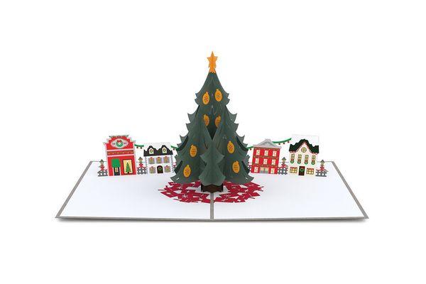 Lovepop Christmas Tree Village Pop Up Card