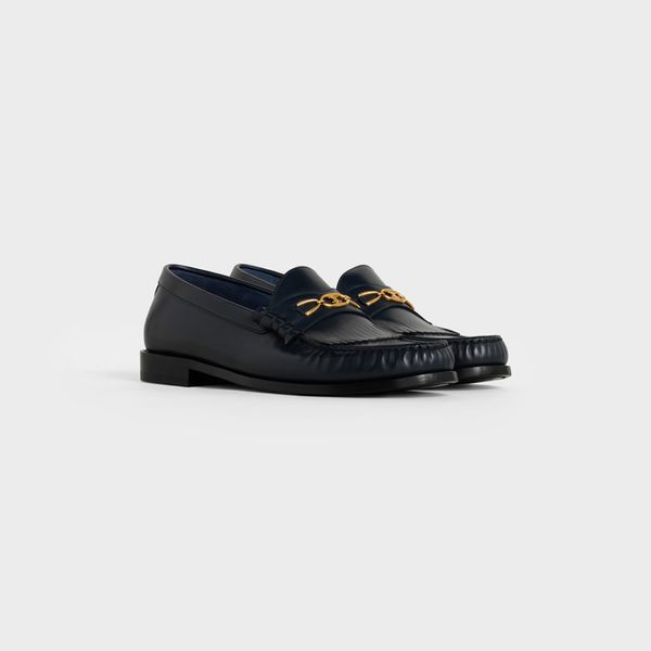 Celine Luco Maillon Triomphe Loafer in Polished Calfskin
