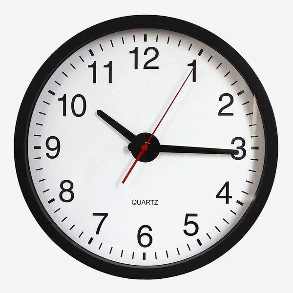 Artwind Black Round Modern Wall Clock