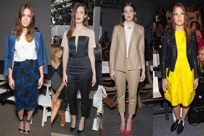 Mandy Moore at Billy Reid, Phillip Lim, Boy. By Band of Outsiders, and Lela Rose.