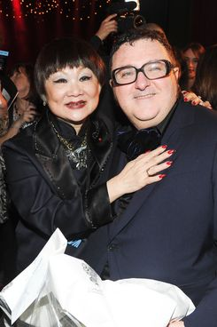Shaw-Lan Wang and Alber Elbaz in happier times.