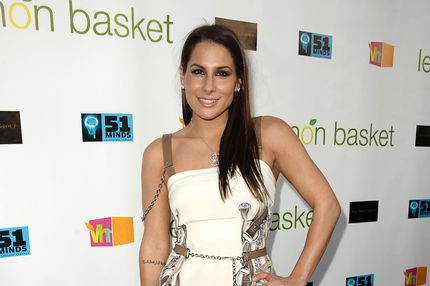 Ashley Dupre attends the Lemon Basket restaurant grand opening at Lemon Basket on May 11, 2011 in West Hollywood, California.