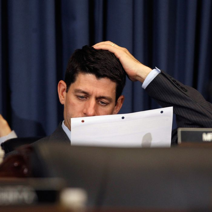 House Budget Committee Chairman Paul Ryan (R-WI) (C) looks over documents during a hearing on Capitol Hill June 6, 2012 in Washington, DC. The committee heard testimony from Congressional Budget Office Director Douglas Elmendorf about the CBO's long-term budget outlook.DANVILLE, KY - OCTOBER 11: U.S. Rep. Paul Ryan (R-WI) listens during the vice presidential debate at Centre College October 11, 2012 in Danville, Kentucky. This is the second of four debates during the presidential election season and the only debate between the vice presidential candidates before the closely-contested election November 6. (Photo by Chip Somodevilla/Getty Images)WASHINGTON, DC - JUNE 06: House Budget Committee Chairman Paul Ryan (R-WI) (C) looks over documents during a hearing on Capitol Hill June 6, 2012 in Washington, DC. The committee heard testimony from Congressional Budget Office Director Douglas Elmendorf about the CBO's long-term budget outlook. (Photo by Chip Somodevilla/Getty Images)