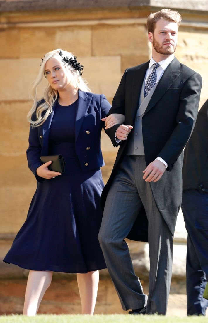 Louis Spencer with his sister Lady Eliza Spencer at the royal wedding.