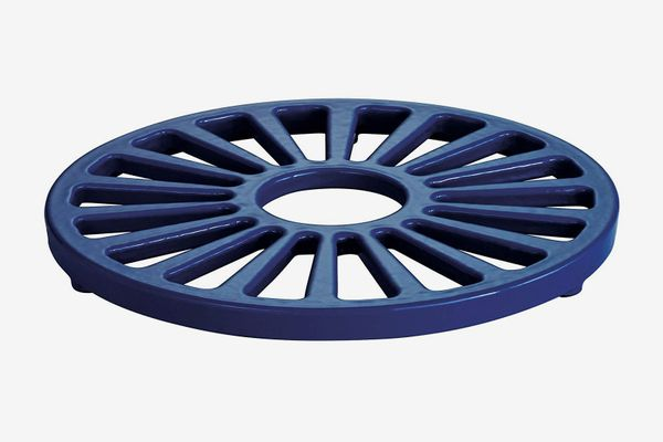 Tramontina Enameled Cast Iron Round Trivet, 7-Inch, Gradated Cobalt