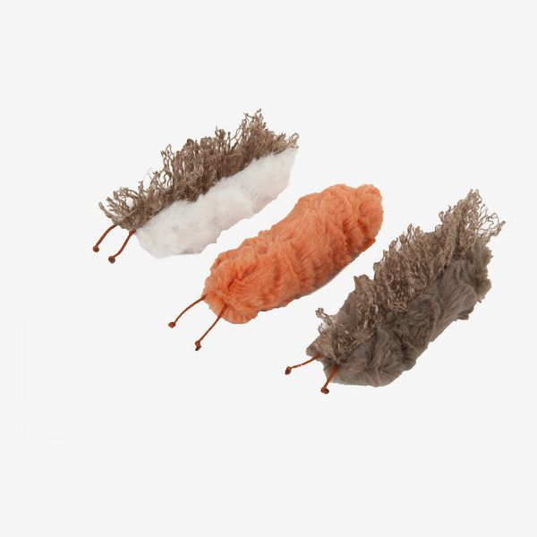 Petlinks Caterpillar Crinkle Cat Toy with Catnip, 3 count