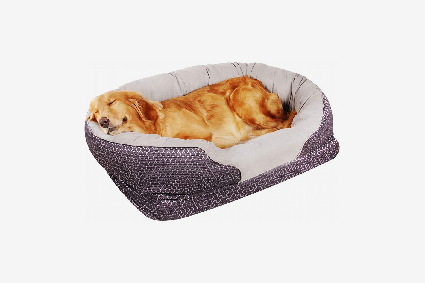Zodae Dog Bed with Padded Rim Cushion and Nonslip Bottom