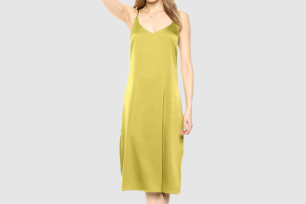 The Drop Women's Ana Silky V-Neck Midi Slip Dress
