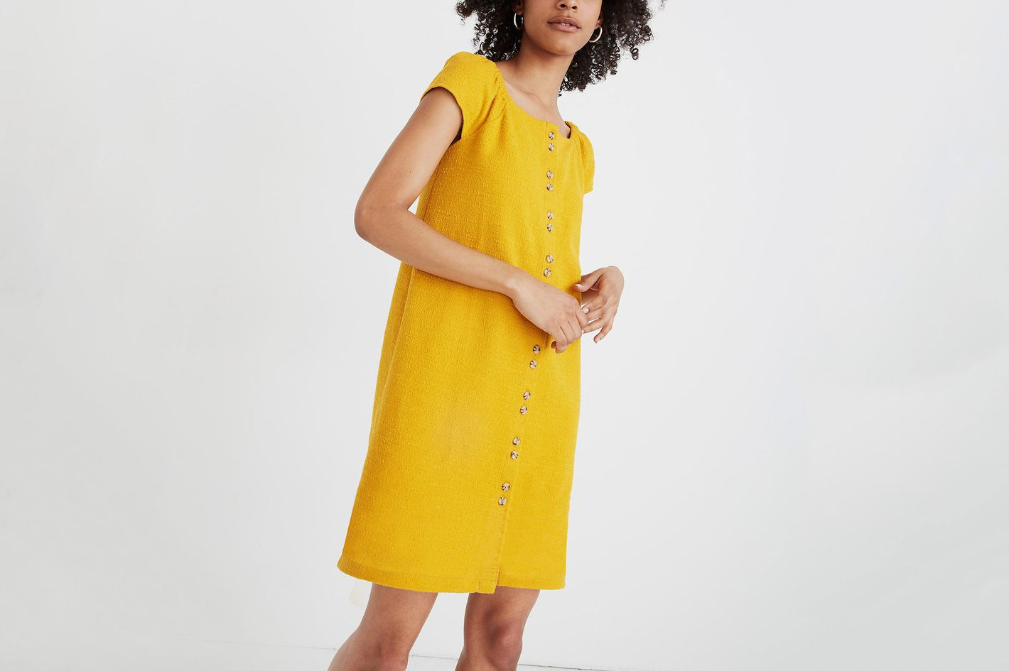 Texture & Thread Cap-Sleeve Dress