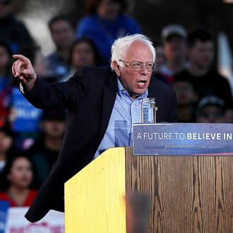Democratic Presidential Candidate Bernie Sanders Holds Campaign Rally In Bay Area