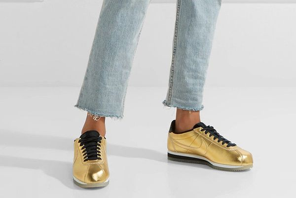 Nike Classic Cortez metallic leather sneakers