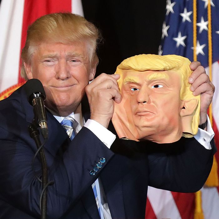 Donald Trump Holding Up A Mask Is Like The End Of An Episode Scooby Doo You Didn T Ask For