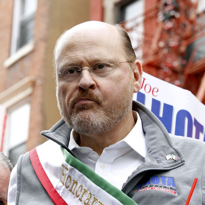 Republican candidate for NYC Mayor Joe Lhota serves as the Honorary Guest during the San Gennaro Grand Procession, kicking off the 87th annual San Gennaro Festival in the Little Italy section of Manhattan, NY.