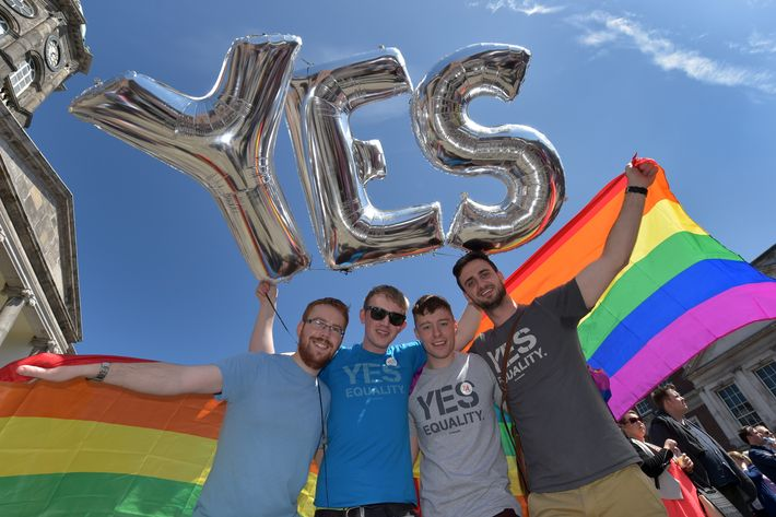 Irish same-sex marriage supporters.