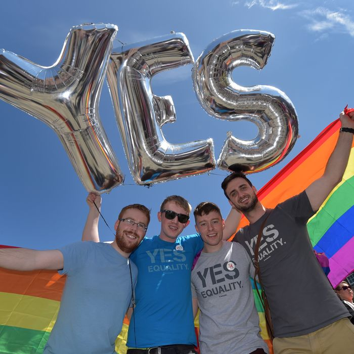Irish same-sex marriage supporters.