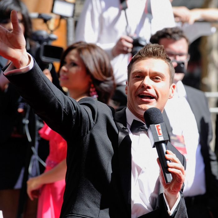 TV personality Ryan Seacrest arrives at the 63rd Annual Primetime Emmy Awards