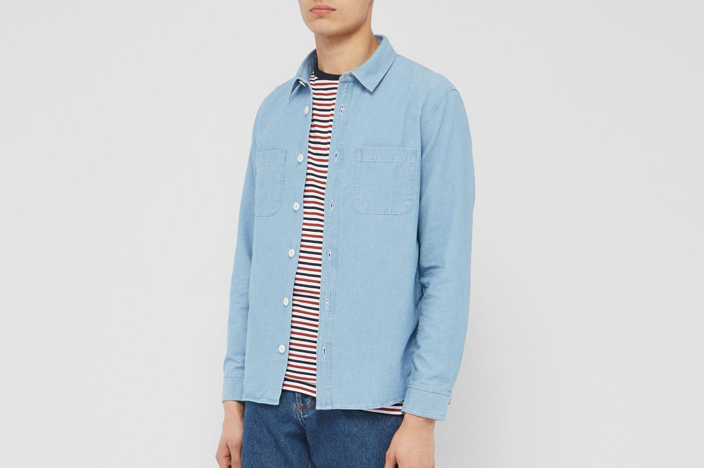 A.P.C. David Cotton-Chambray Shirt