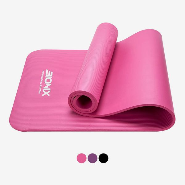 Bionix Yoga Mat Thick Exercise Foam NBR Roll with Non Slip Large Surface & Carry Straps