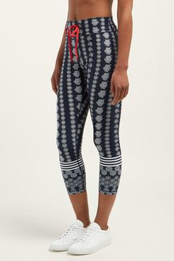 The Upside Daisy Chain Floral-Print Cropped Leggings