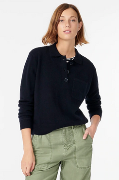J.Crew Collared cashmere sweater