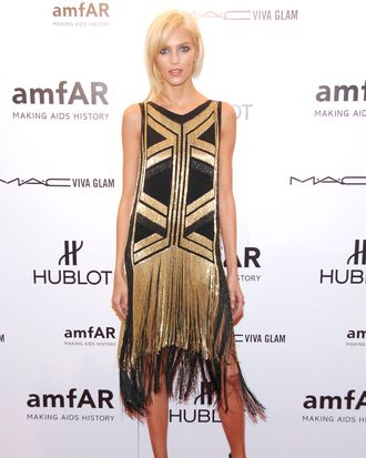 Anja Rubik==amfAR To Kick Off Fashion Week with Annual New York Gala.==Cipriani Wall Street, NYC==February 8, 2012==