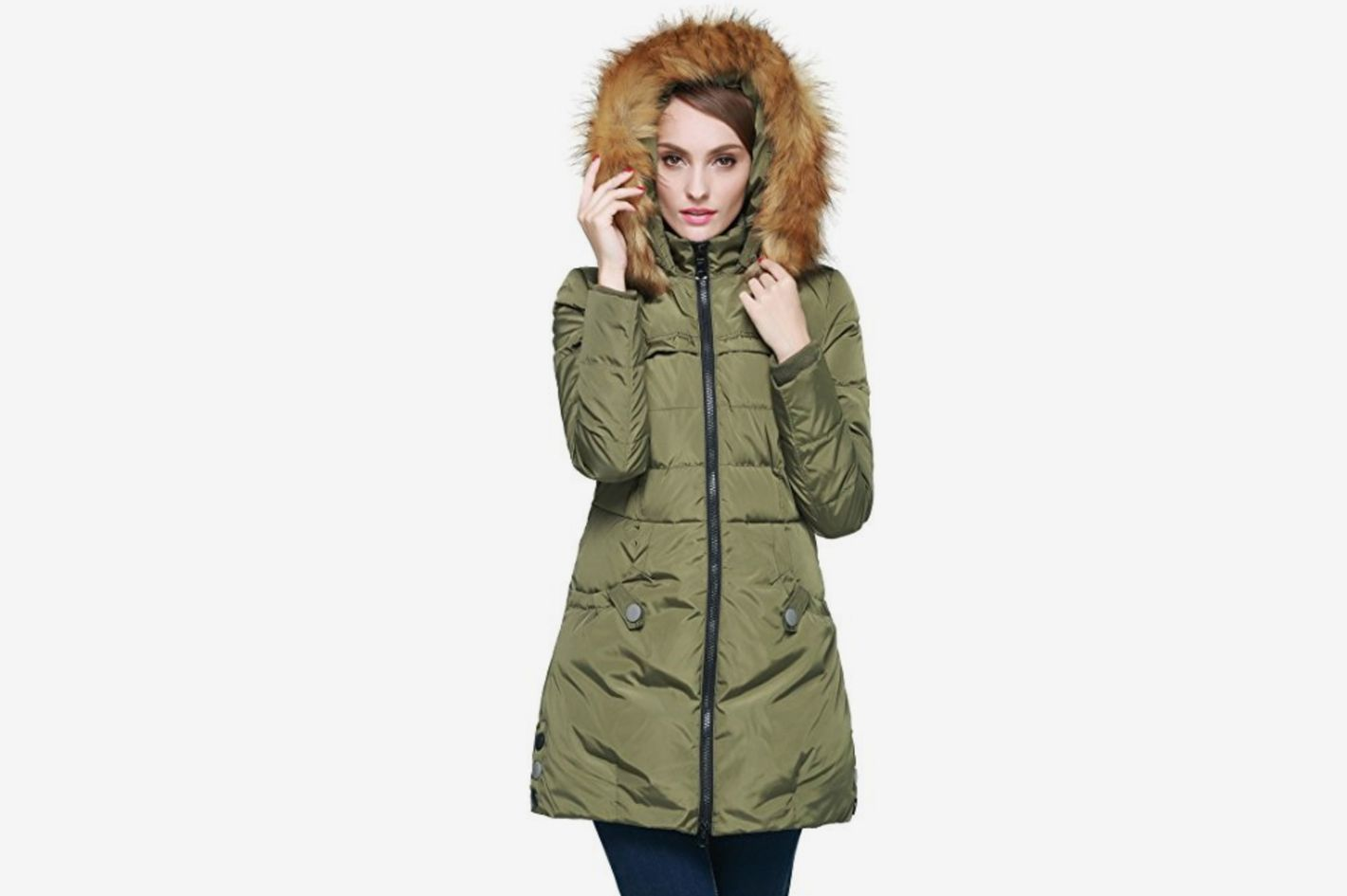 ec0ebc9633c Orolay Women s Down Jacket With Faux Fur Trim Hood at Amazon