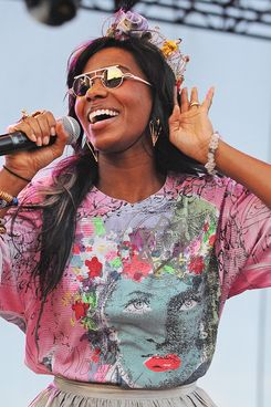 AUSTIN, TX - SEPTEMBER 16:  Santigold performs during the 2011 Austin City Limits Music Festival at Zilker Park on September 16, 2011 in Austin, Texas.  (Photo by C Flanigan/Getty Images)