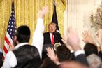President Trump Holds News Conference In East Room Of White House
