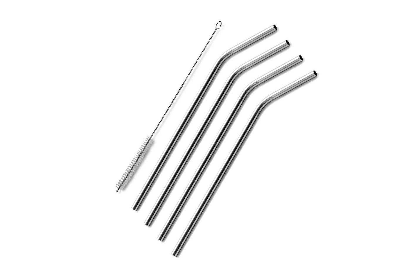 Stainless Steel Drinking Straws, Set of 4