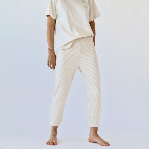 For Days Upcycled Rib Slim Pant