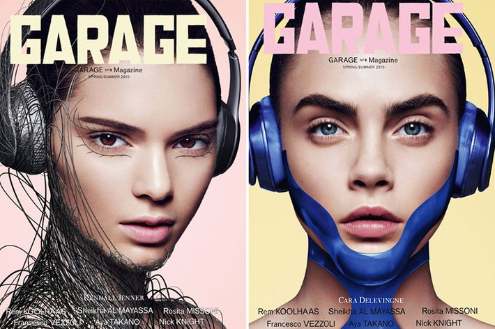 Kendall Jenner and Cara Delevingne on the cover of <em>Garage</em>.