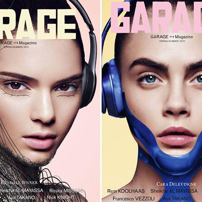 Kendall Jenner and Cara Delevingne on the cover of <em>Garage</em>.