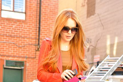Lindsay Lohan debuts her newly dyed redhair in Beverly Hills, CA. Lindsay was seen leaving a doctor's office and was picked up by Ali Lohan. She was all smiles, joking with photographers, especially one who was excited about her returning to her red hair.<P>Pictured: Lindsay Lohan<P><B>Ref: SPL369149  080312  </B><BR/>Picture by: Fern / Splash News<BR/></P><P><B>Splash News and Pictures</B><BR/>Los Angeles:	310-821-2666<BR/>New York:	212-619-2666<BR/>London:	870-934-2666<BR/>photodesk@splashnews.com<BR/></P>
