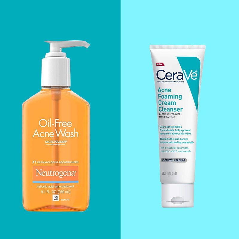 Acne solutions antibacterial facial soap