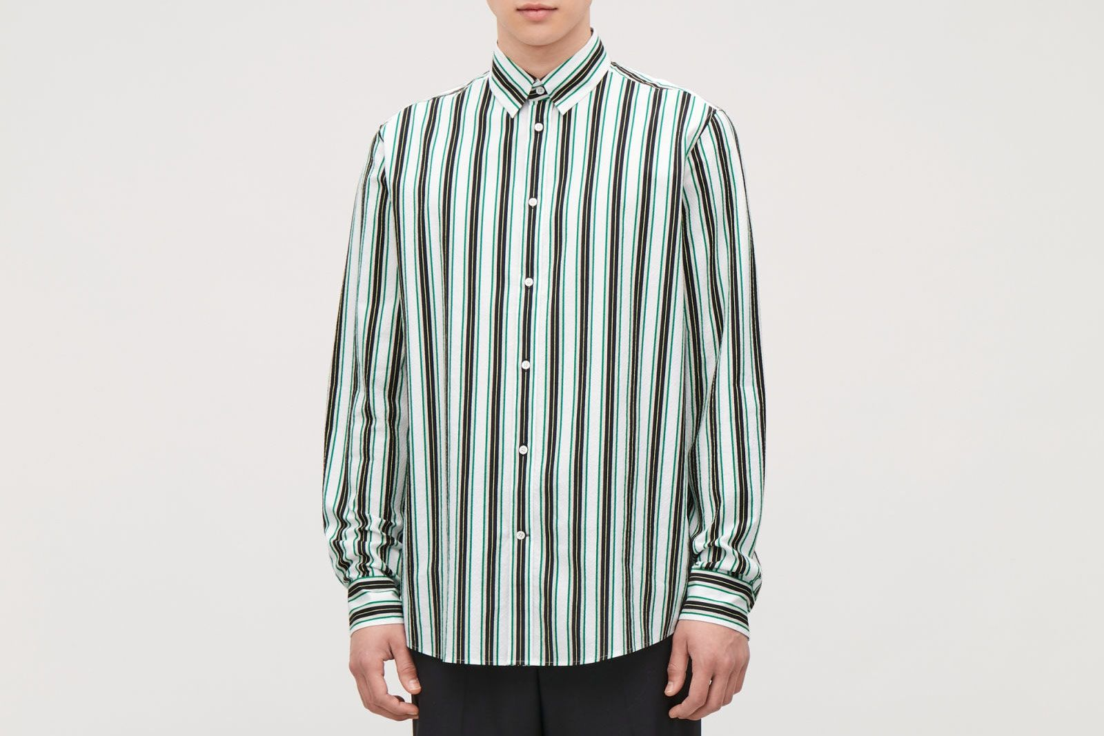 COS Striped Seersucker Shirt