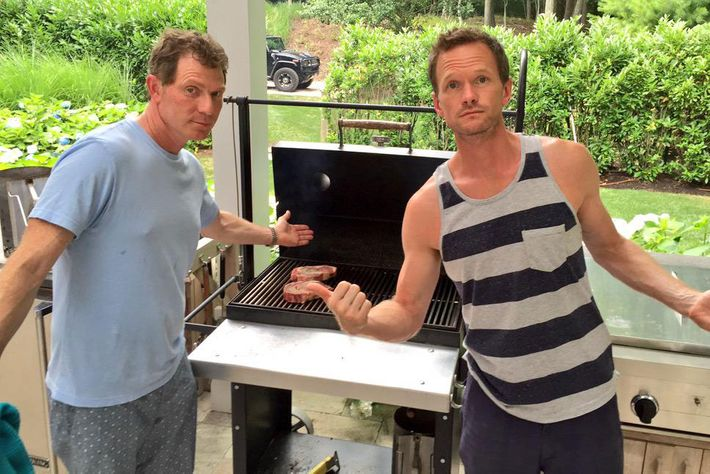 Neil Patrick Harris Spent His Birthday Chilling, Grilling With Bobby Flay