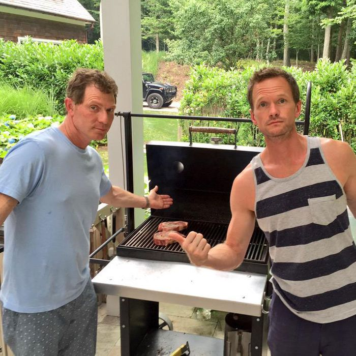 ... Awards Show Regular, And Occasional Actor Neil Patrick Harris Spent His  Birthday Grilling With Charcoal Master And New Bachelor Bobby Flay.
