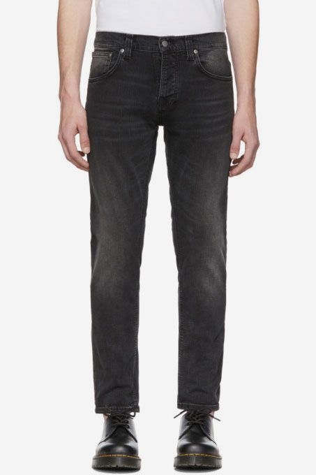 Nudie Grim Tim Jeans, Black
