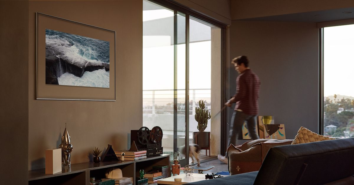 Samsung's QLED TVs Blend Into Your Wall Like a Chameleon on