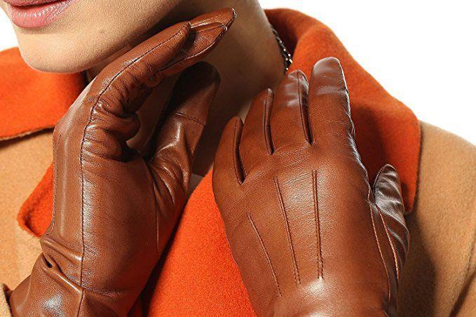 Elma Classic Women's Italian Leather Touchscreen Gloves